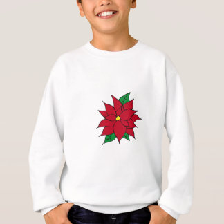 HOLIDAY POINSETTIA / FLOWER, CHRISTMAS SWEATSHIRT