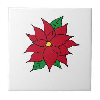 HOLIDAY POINSETTIA / FLOWER, CHRISTMAS TILE