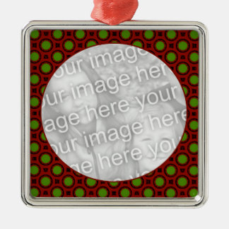 holiday polka dots metal ornament