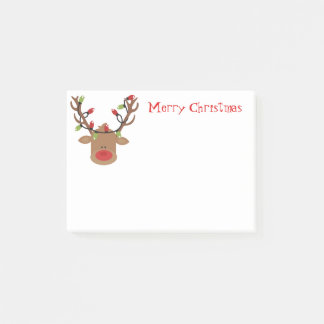 Holiday Post-it-Notes-Rudolph Post-it Notes