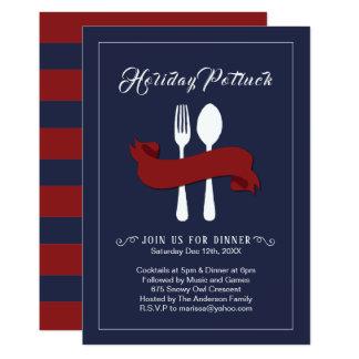 Holiday Potluck Dinner Invitation