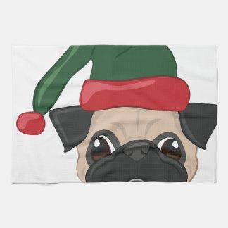 Holiday Pug Kitchen Towel