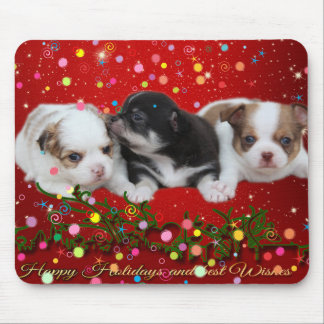 Holiday Puppies (dogs) Mouse Pad