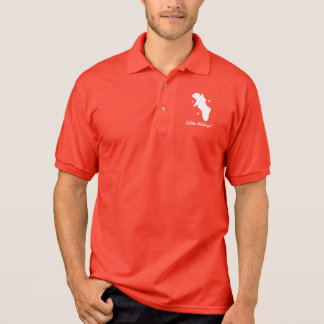 Holiday Puppy in a Stocking with Snowflakes Polo Shirt