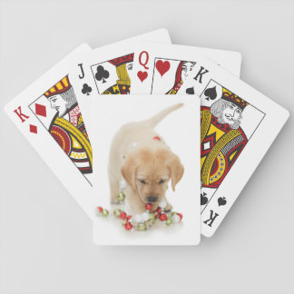 Holiday Puppy Playtime Playing Cards