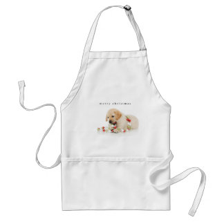 Holiday Puppy Playtime Standard Apron