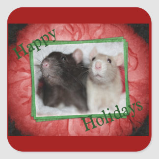 Holiday Rat Stickers
