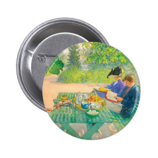 Holiday Reading by Carl Larsson 2 Inch Round Button