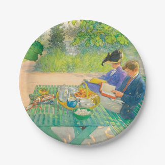 Holiday Reading by Carl Larsson Paper Plate