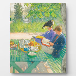 Holiday Reading by Carl Larsson Plaque