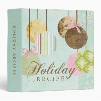 Holiday Recipes 3 Ring Binders
