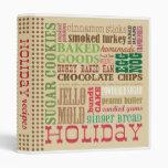 Holiday Recipes Binder