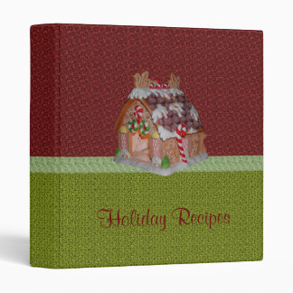 "Holiday Recipes Cookbook 1"" 3 Ring Binder"