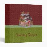 "Holiday Recipes Cookbook 1"" Vinyl Binders"
