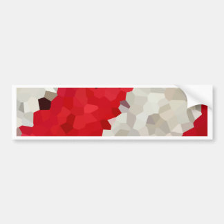 Holiday Red and White Candy Cane Mosaic Abstract Bumper Sticker
