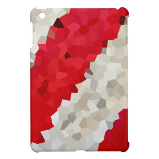 Holiday Red and White Candy Cane Mosaic Abstract Case For The iPad Mini