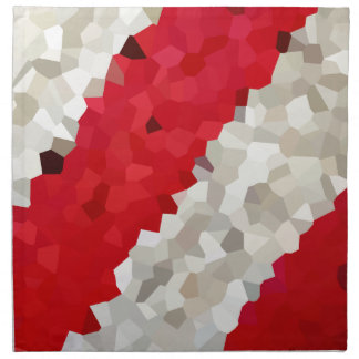 Holiday Red and White Candy Cane Mosaic Abstract Napkin