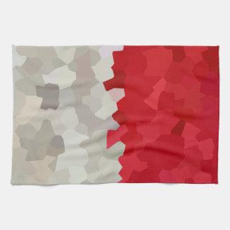 Holiday Red and White Santa Mosaic Abstract Kitchen Towel