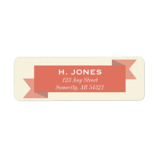 Holiday Red Banner Christmas Return Address Labels