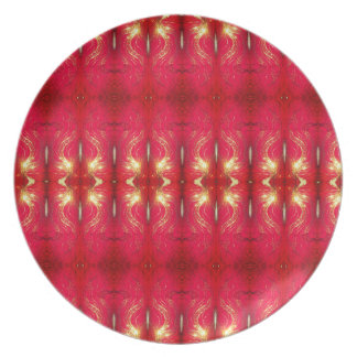 Holiday Red Glow Plate