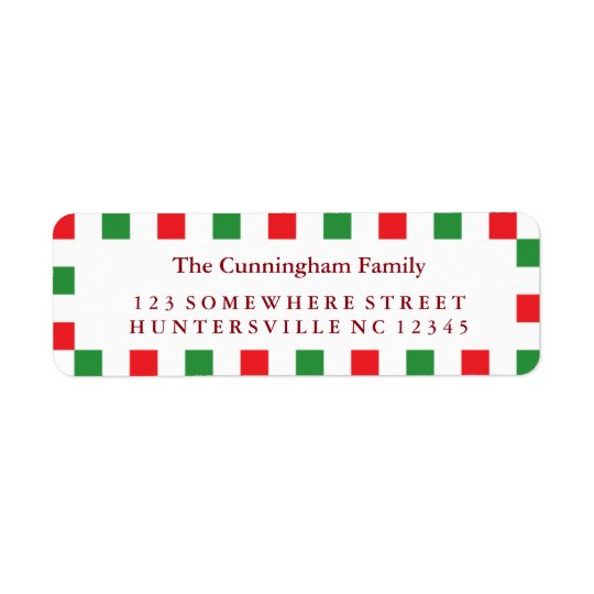 Holiday Red & Green Square Border