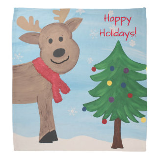 Holiday Reindeer Christmas Bandana