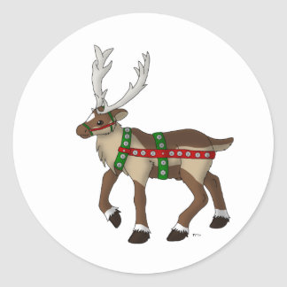 Holiday Reindeer Stickers