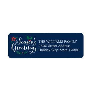 Holiday Return Address Labels   Season's Greetings