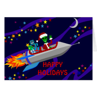 Holiday  Rocket Card