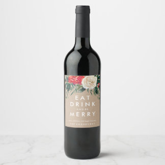 Holiday Rose Wine Label