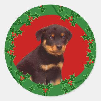 Holiday Rottweiler sticker