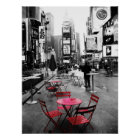 HOLIDAY SALE! Times Square Black White Red 18x24 Poster