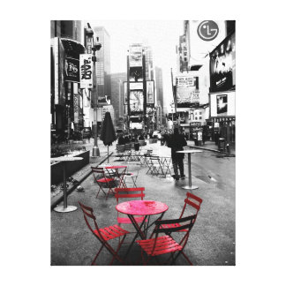 HOLIDAY SALE! Times Square Black White Red Canvas