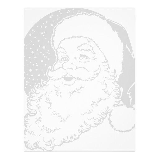 Holiday Santa Letterhead Template