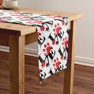 Holiday Santapaws -Paw Print in Christmas LOVE Short Table Runner