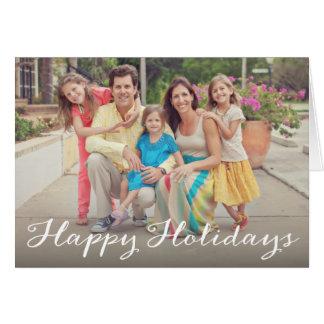 Holiday Script | Folded Holiday Greeting Card