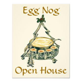Holiday Season Egg Nog Open House Party Invitation
