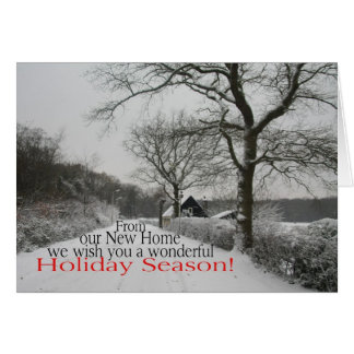 Holiday Season from New Home - new address Card