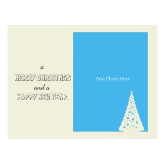 Holiday Season Retro Custom Christmas Greeting Postcard