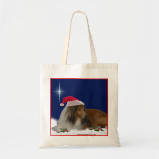 Holiday Sheltie Tote
