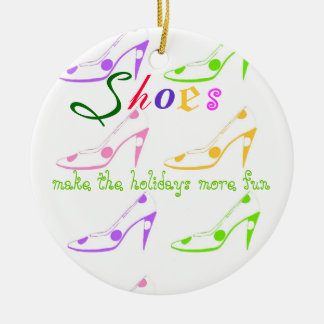 Holiday Shopping for Girls Who Love Shoes Ceramic Ornament