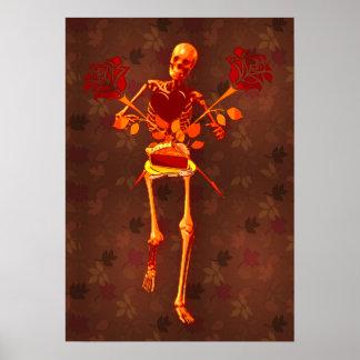 Holiday Skeleton Poster