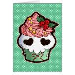 Holiday Skull Cupcake Cards