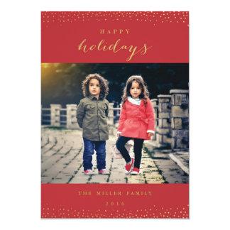 "Holiday Snow 5"" X 7"" Invitation Card"