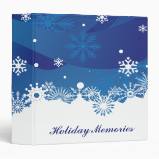 Holiday Snowfall Vinyl Binder