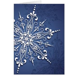 Holiday Snowflake Christmas Card