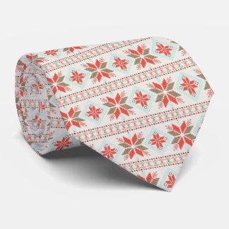 Holiday Snowflake Nordic Christmas Sweater Tie