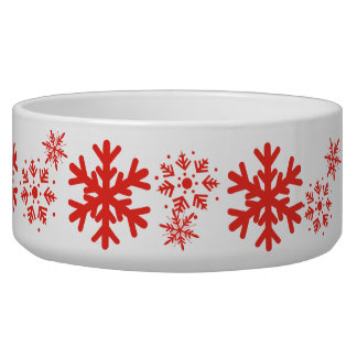 Holiday Snowflake Pet Bowl