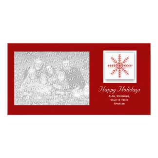 Holiday Snowflake Red Card