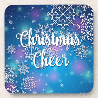 Holiday Snowflakes Christmas Cheer Coasters